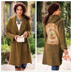 Soft Surroundings Label Noir Tapestry Sweater Coat